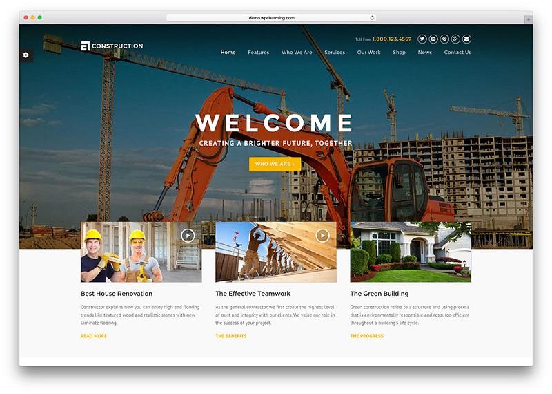 thiết kế web xây dựng